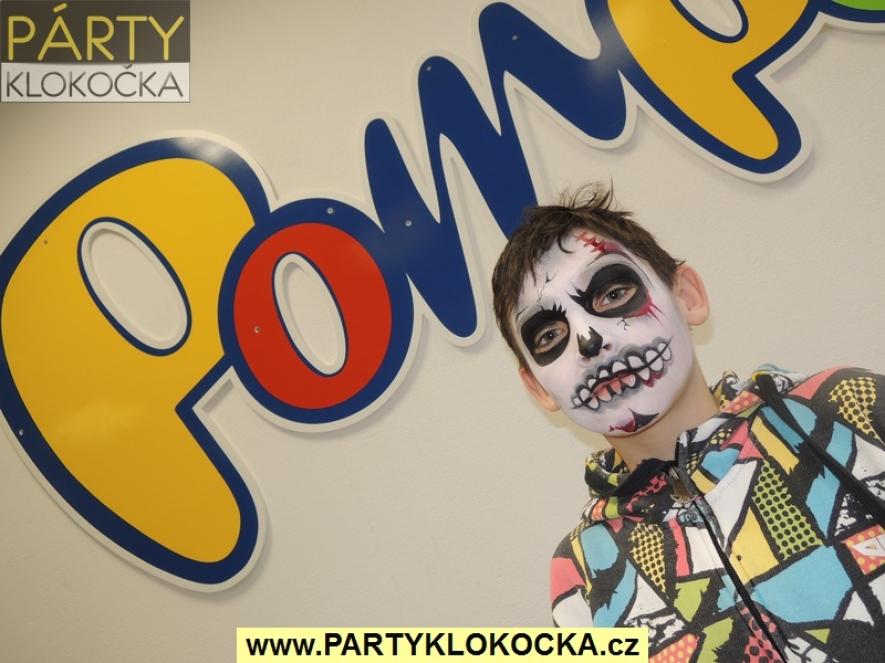 Malování na obličej pro novou prodejnu hraček POMPO v Rychnově nad Kněžnou - 01-2016